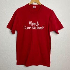 Single Stitch Coca-Cola Texas 90s Vintage T Shirt